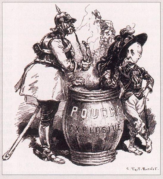 Французская карикатура на тройственный союз