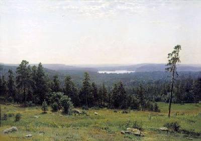 Шишкин, картина 'Лесные дали'