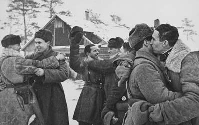 советские воины прорвали блокаду Ленинграда фото