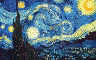 Ван Гог картина 'Звездная ночь' фото