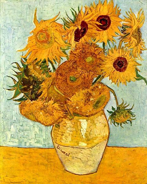 Ван Гог картина 'Подсолнухи' фото