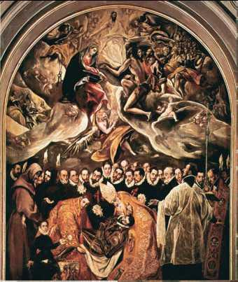 Эль Греко картина «Погребение графа Оргаса» фото