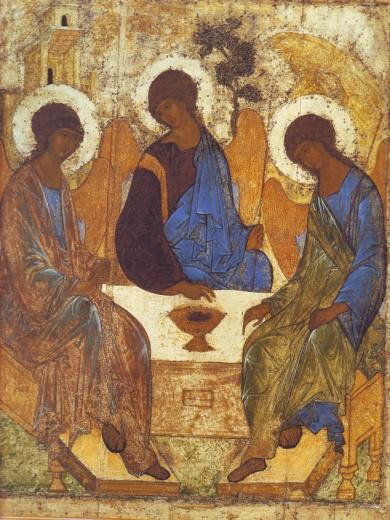 Андрей Рублев икона Святая Троица фото