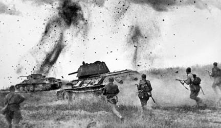 Курская дуга. атака советских воинов фото